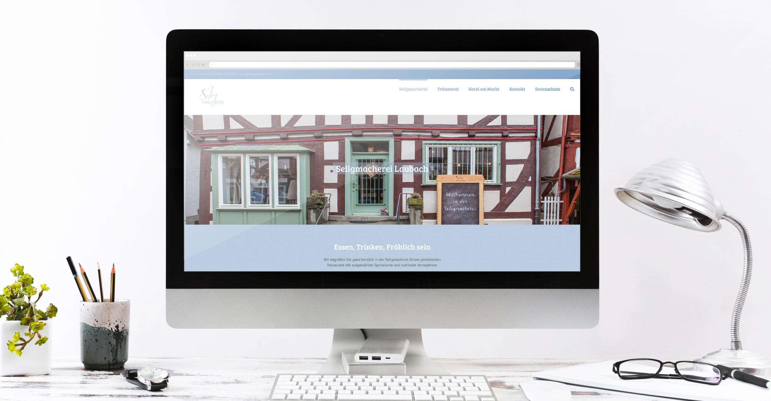 Webseite Seligmacherei Portfolio uff zack! Grafikdesign